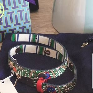 NWT-Tory Burch*$128*Printed, Double Wrap Bracelet
